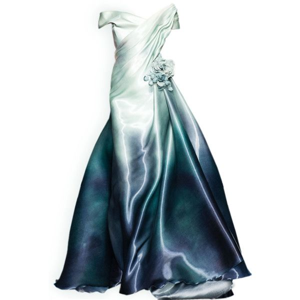 satinee.polyvore.com - Georges Chakra 2015 ❤ liked on Polyvore featuring dresses, gowns, long dresses, doll clothes, blue evening dress, long blue evening dress, blue ball gown, blue dress and doll dress