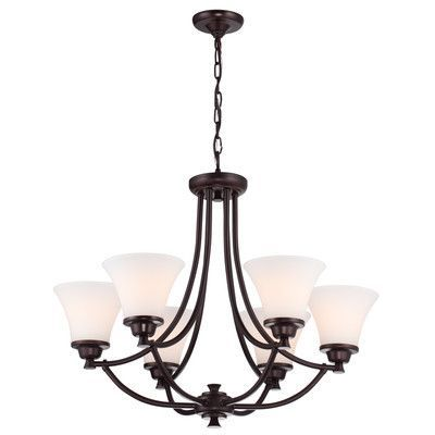 DVI Valletta 6 Light Shaded Chandelier Finish: Mocha