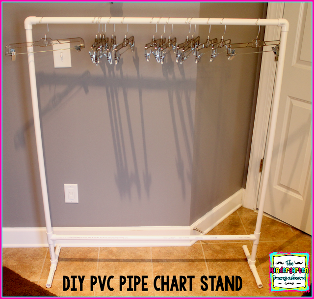 The Kindergarten Smorgasboard: DIY PVC Pipe Chart Stand