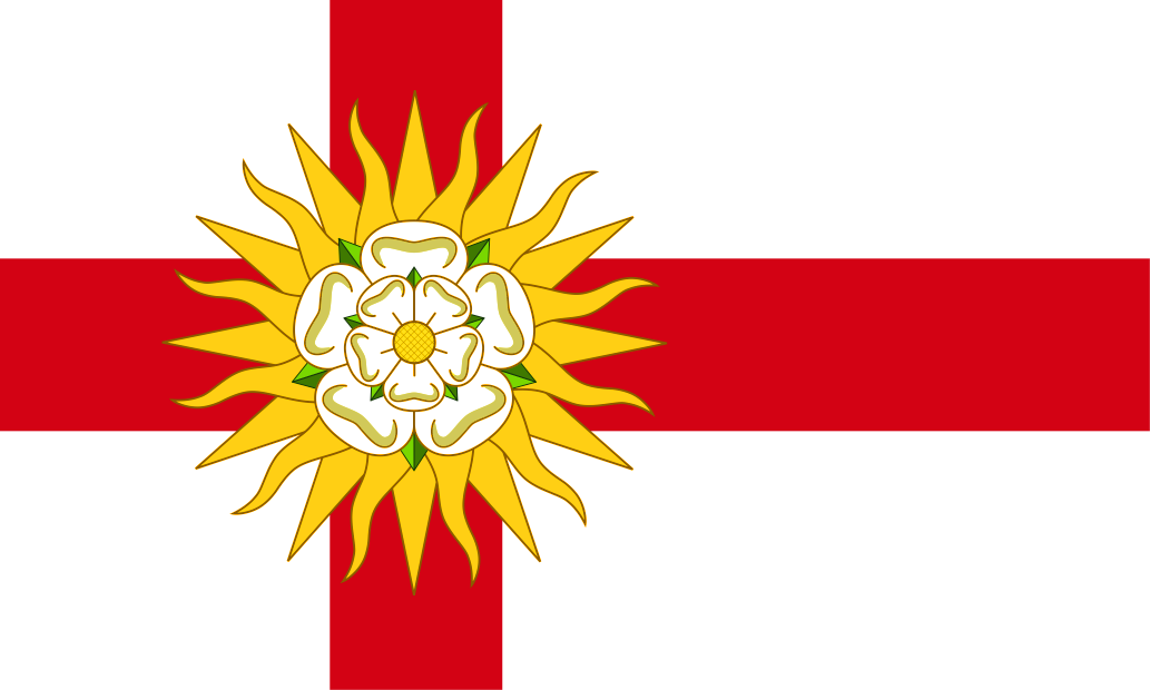 Nordic Flag Of The West Riding Of Yorkshire England Scandinavian Yorkshire Flag Yorkshire County Yorkshire