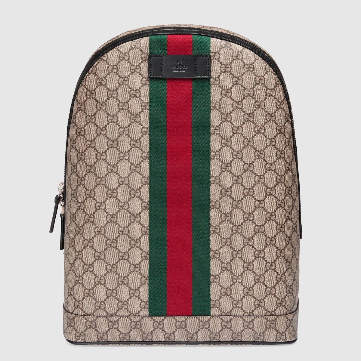 8de4d9f23a GUCCI Gg Supreme Backpack With Web - Gg Supreme. #gucci #bags #leather  #lining #canvas #nylon #backpacks #