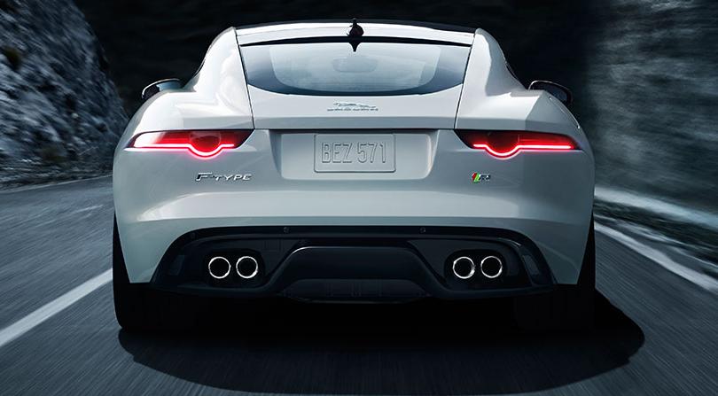 2015 Jaguar FType R Coupe Back View Wallpaper Jaguar