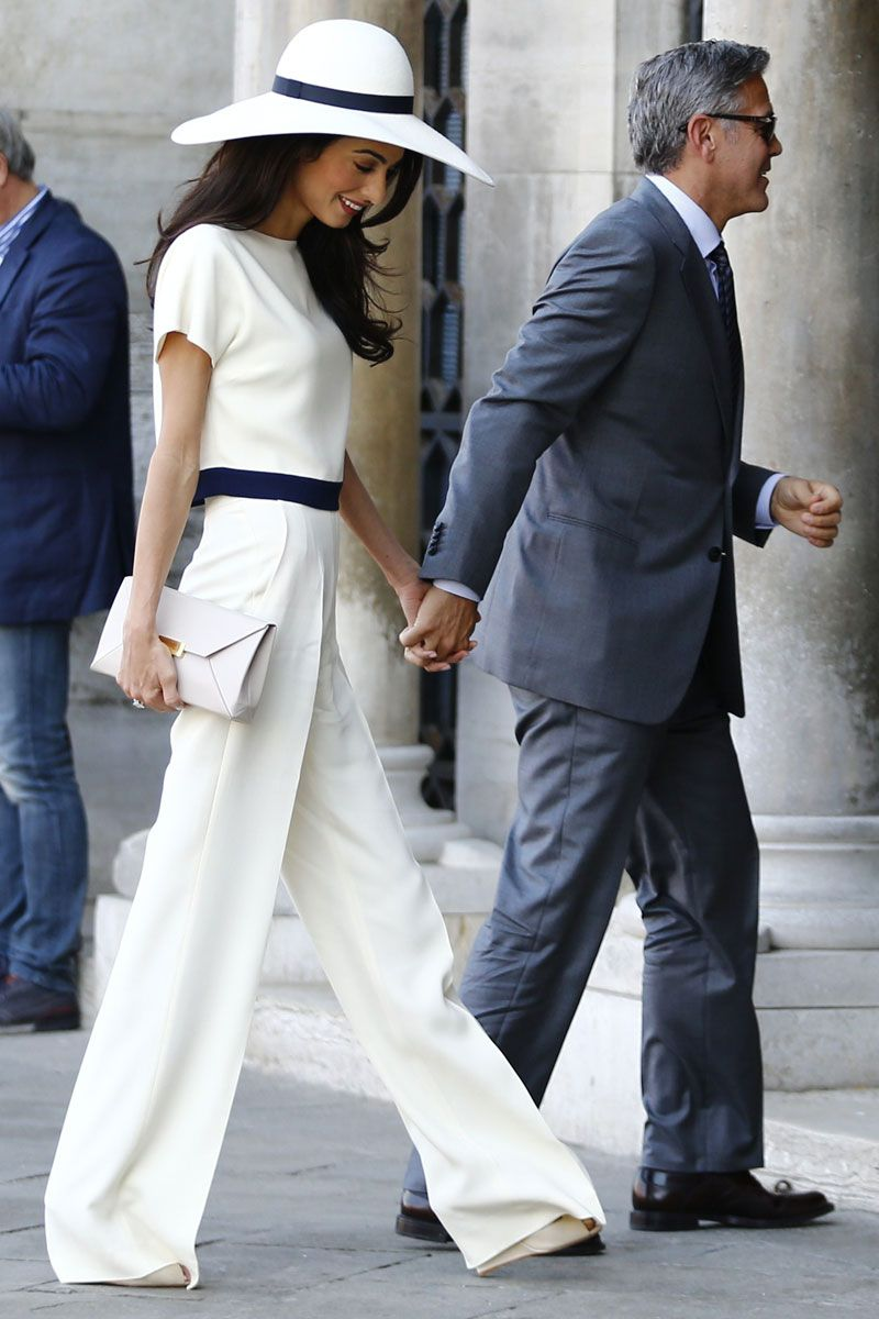 3b5474275db12 Amal Alamuddin Clooney heading out with George Clooney for the civil  ceremony of their wedding in Venice