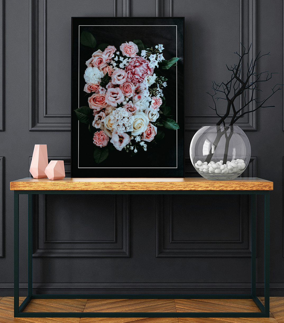 Printable Wall Art Home Decor Elegant Flowers Print Digital
