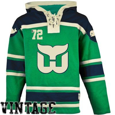 Old Time Hockey Hartford Whalers Lace Jersey Team Hoodie - Green ... 91e69080c