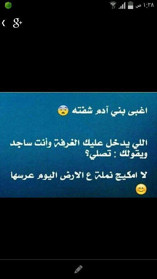 منيح عمري ما انسألت هادا السؤال بس عجبتني بمكيج نملة Arabic Funny Funny Quotes Arabic Jokes