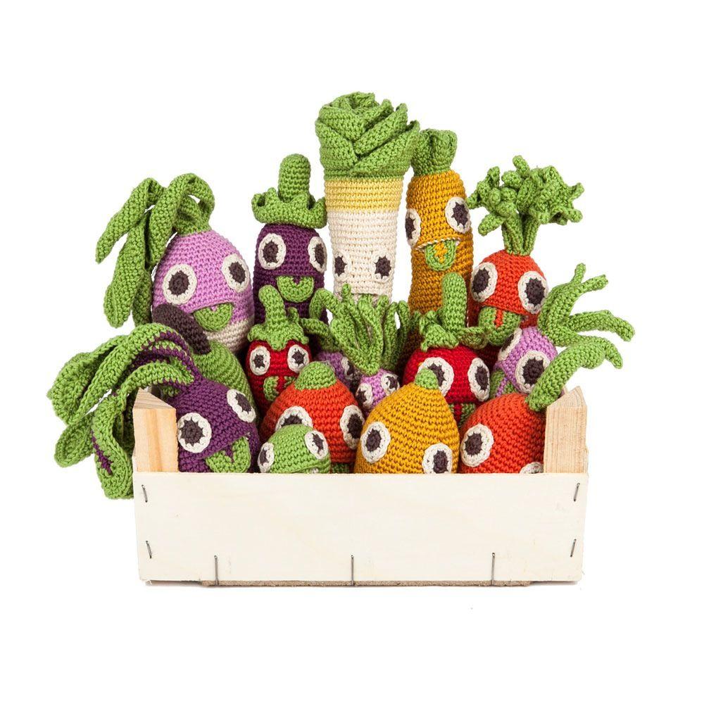 Image of jouet crochet bio hochet navet MyuM // organic rattle toy