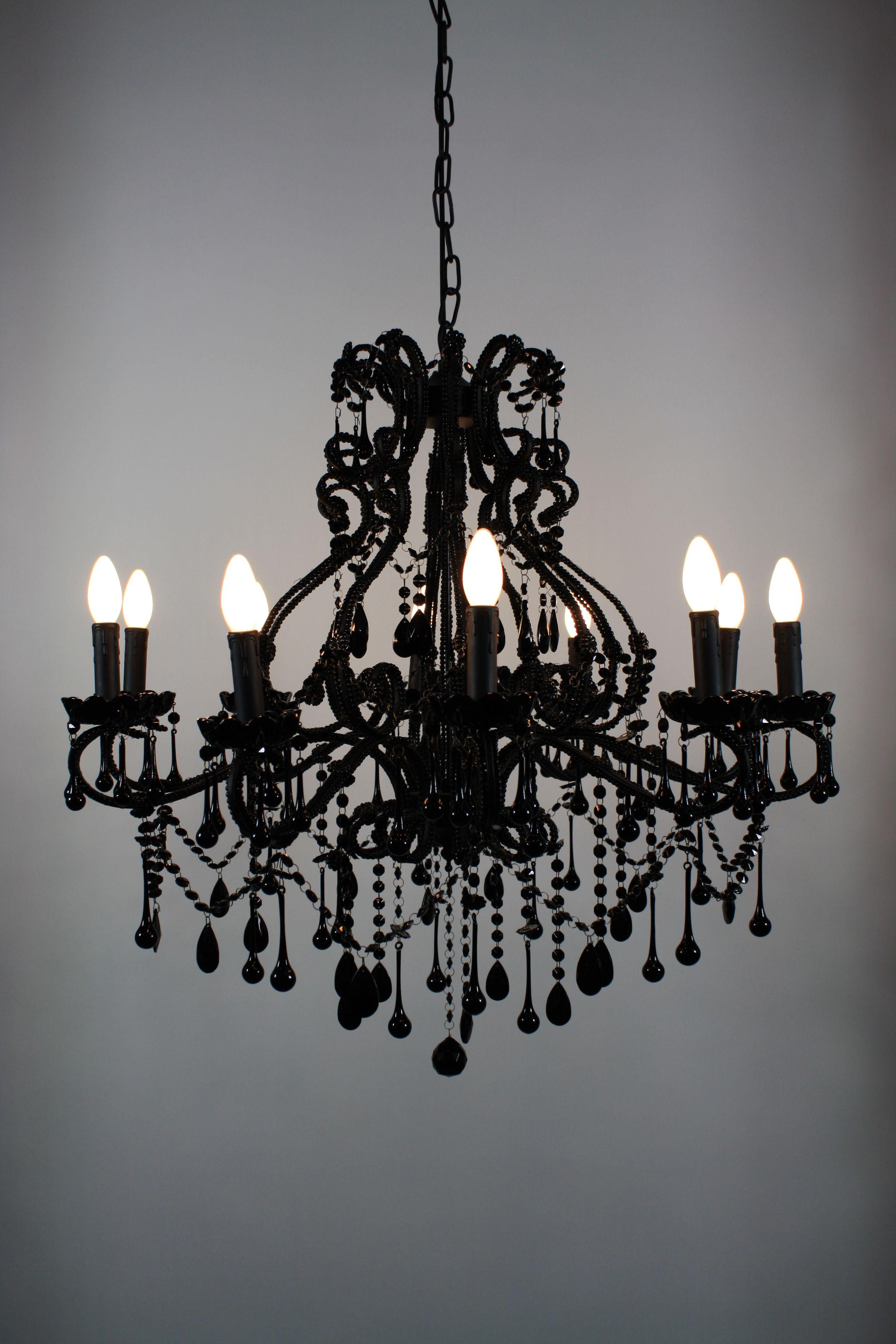 Goth Chandelier Black Vintage Chandelier – Small Black Chandeliers