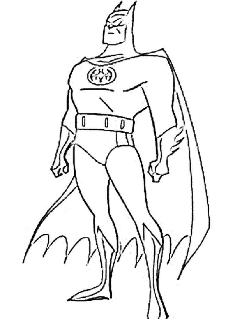 Perfecto Batman Para Colorear Imprimible Ilustración - Dibujos Para ...