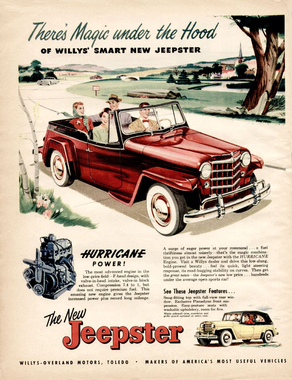 Directory Index Jeep 1944 53 Ads 1950 Jeepster Automobile
