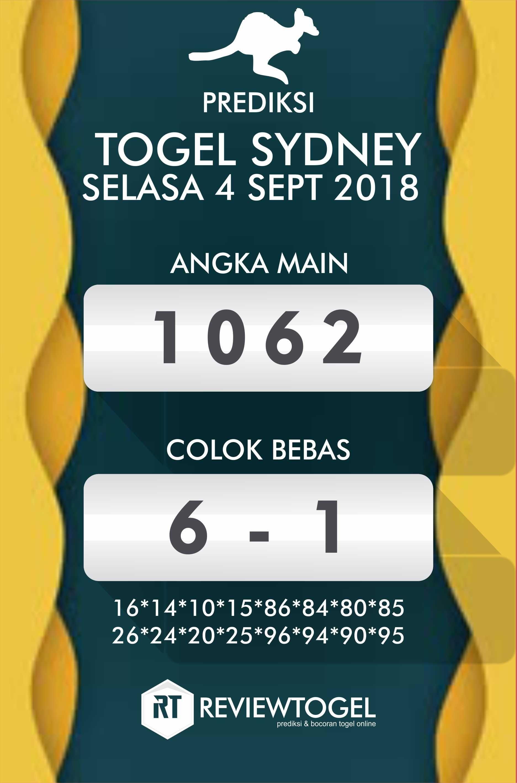 Result Sydney 2020 Lengkap : result, sydney, lengkap, PREDIKSI, SYDNEY, Prediksi, Togel, Sydney, Selasa, September, 2018,, Result, September,, Keluaran, Sydney,, Angka