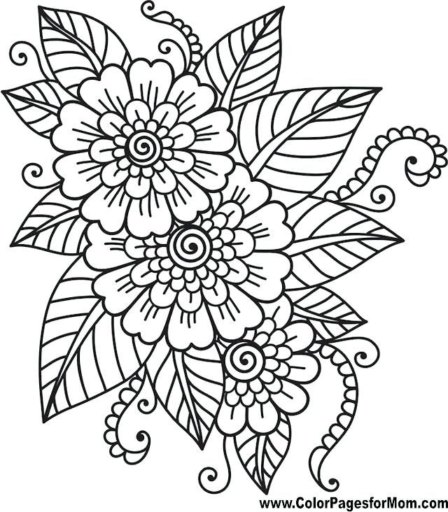 printable adult coloring pages flowers easy printable adult ...