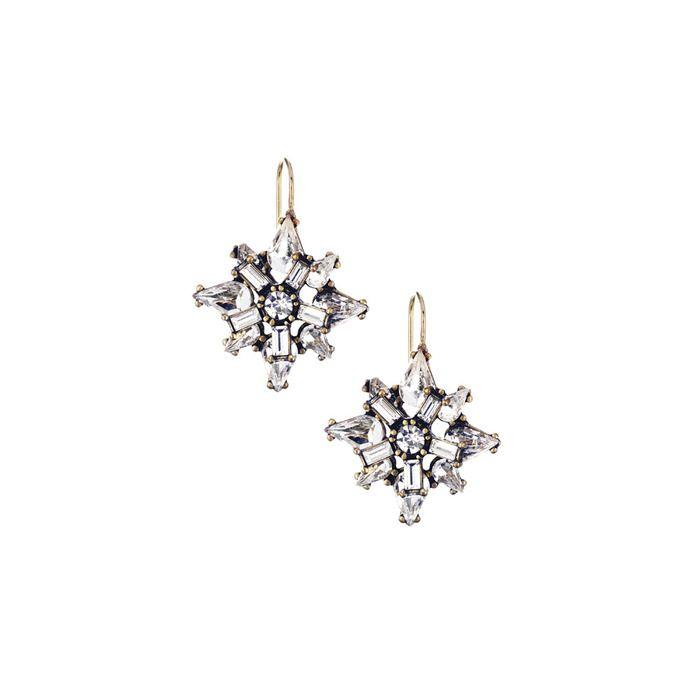 Art Deco Starburst Earrings $38.00
