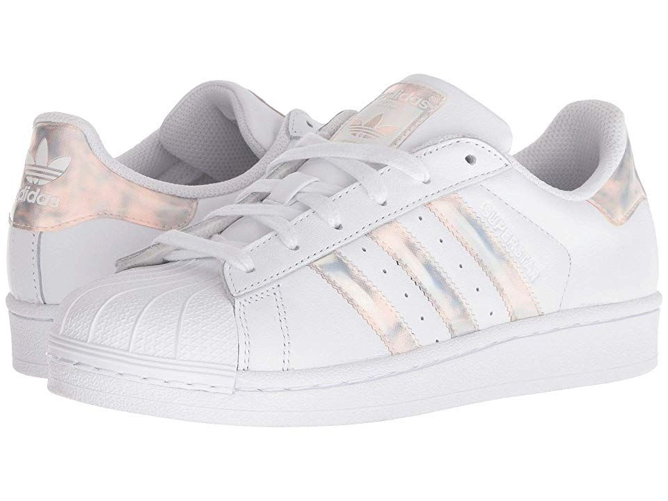6ce906baf1a5 Lace Up · adidas Superstar Iridescent J (Big Kid) Originals Kids Girls  Shoes White Iridescent Signature