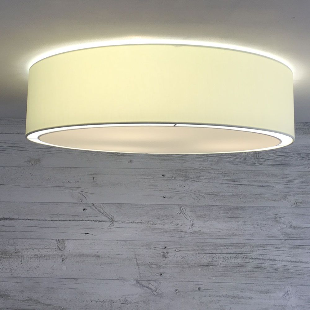 This New Cream Flush Drum Lamp Shade Is Perfect For Rooms With Lower Ceilings Available In 52 Drum Lampshade Traditional Lamp Shades Contemporary Lamp Shades