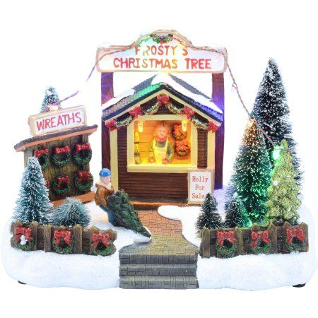 holiday time 575 holly for sale christmas village walmartcom