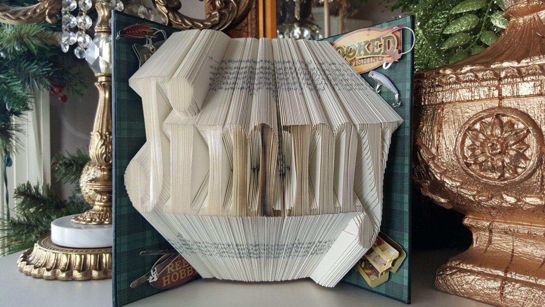 Custom name folded book art graduation college