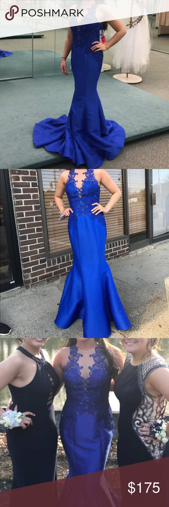 Prom dress size this beautiful beaded royal blue dress gives you