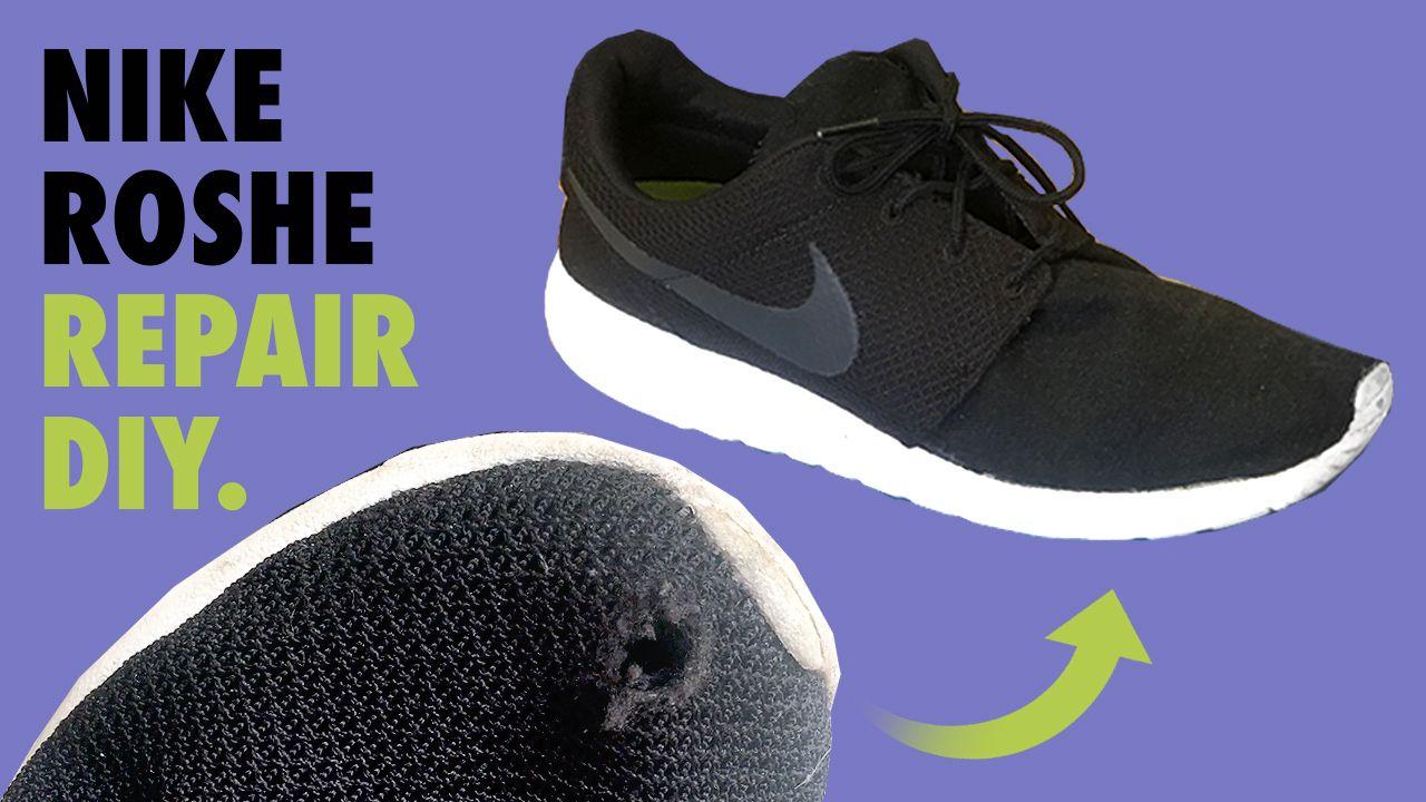 NIKE ROSHE Mesh (hole) Repair FIX DIY | Nike roshe, Nike