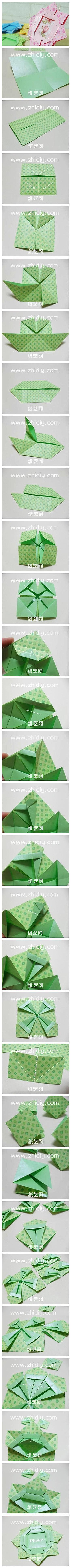 Weitere Anleitung für einen Origami Bilderrahmen (modular) | Origami ...