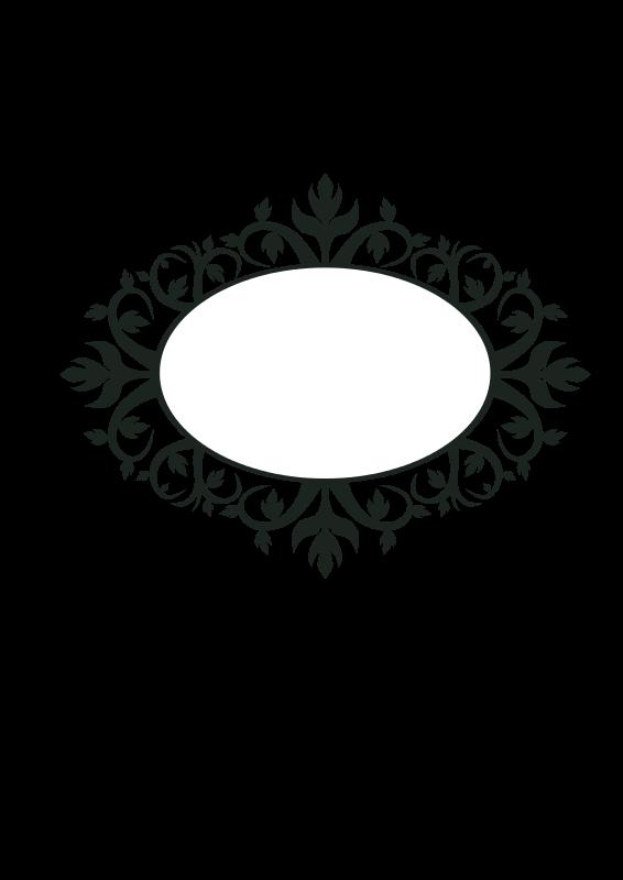 Clipart Ornament Oval Frame Moldura Oval Arabescos Vetor Molduras Vintage
