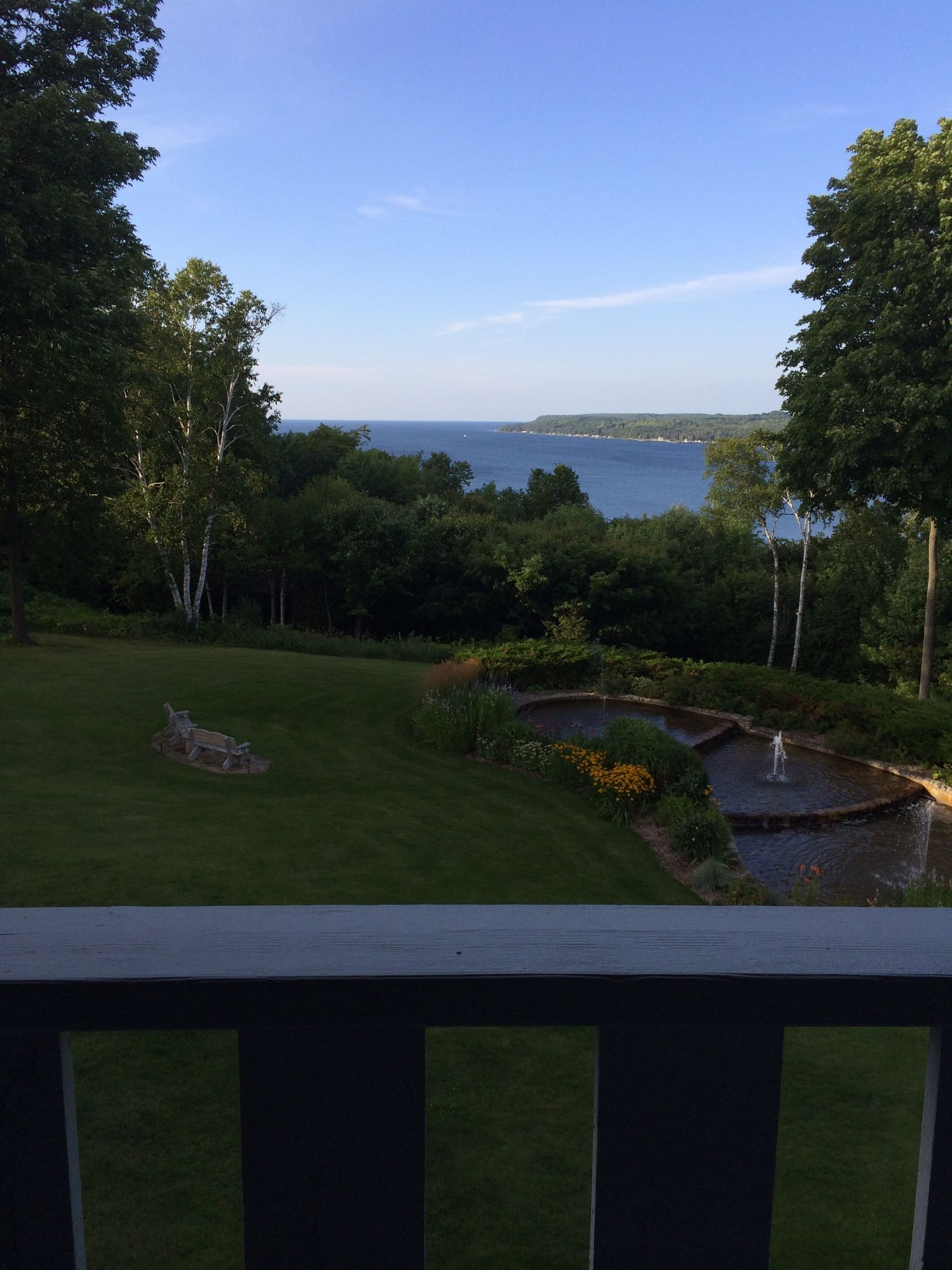 View From Country House Guest Room Sister Bay Wi Door County