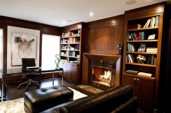 Office With Fireplace Home Office Decor Home Office Design