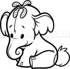 How To Draw Chibi Lumpy Heffalump Step 8 Winnie The Pooh Drawing Whinnie The Pooh Drawings Winnie The Pooh Pictures