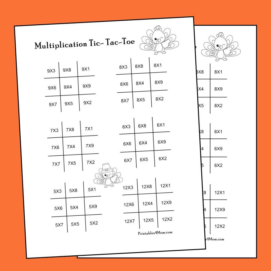 November Math Printables For Thanksgiving