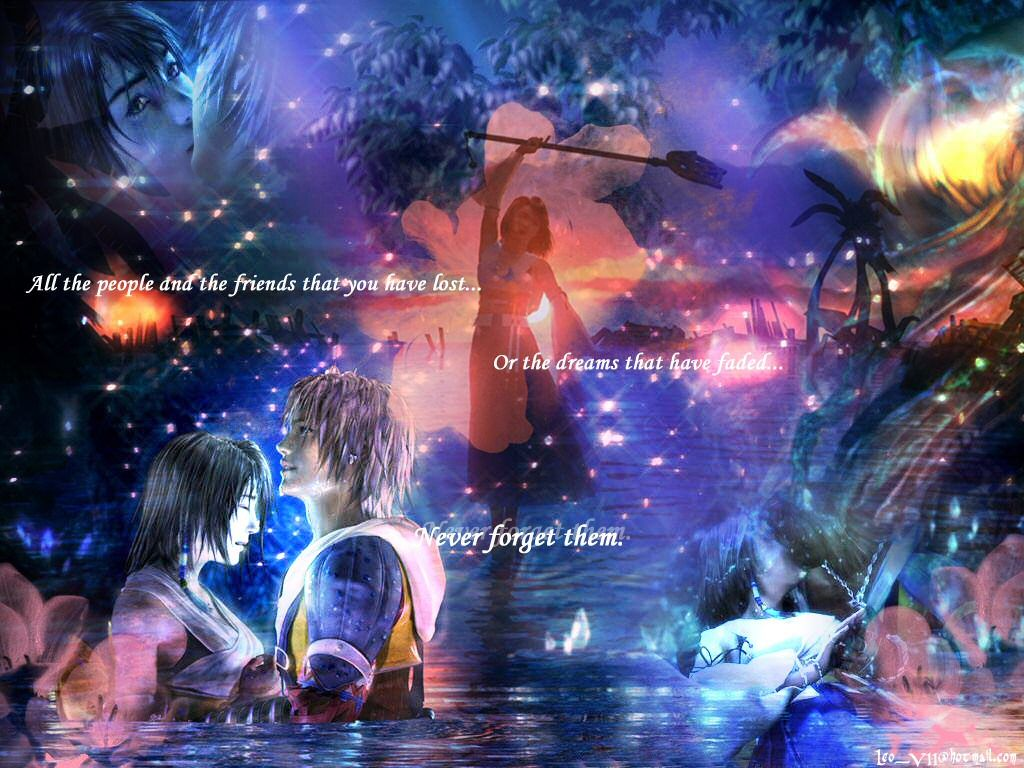Tidus Yuna Final Fantasy Video Games Background Wallpapers
