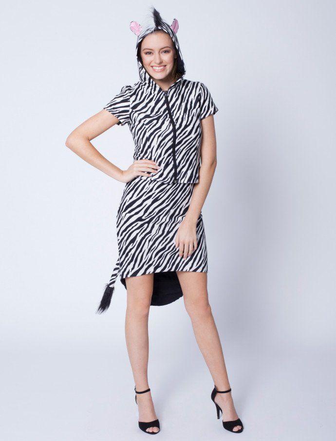 Kleid Zebra mit Jacke | Deiters | Kostüm | Karneval | Fasching ...