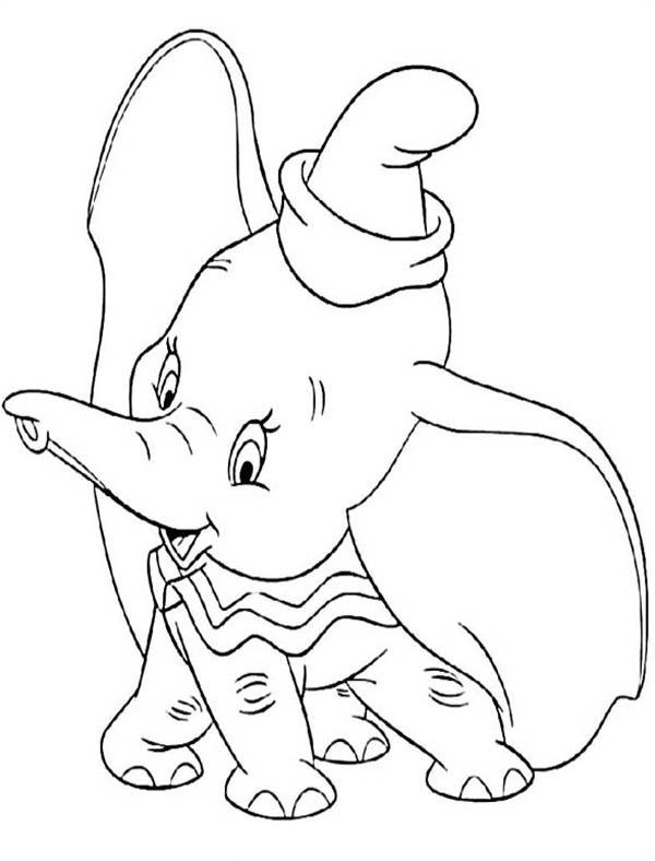 Coloring Elephant Dumbo
