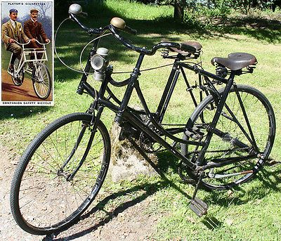 1910s Sociable SIDE-BY-SIDE TANDEM Ready to Ride Vintage Antique