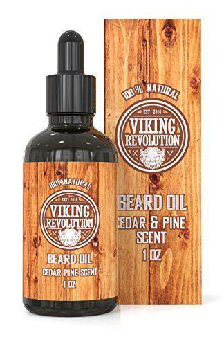 Beard Oil Conditioner - All Natural Cedarwood & Pine Scent with Organic Argan & Jojoba Oils - Softens & Strengthens Beards and Mustaches for Men (1 Pack) #jojobaoil