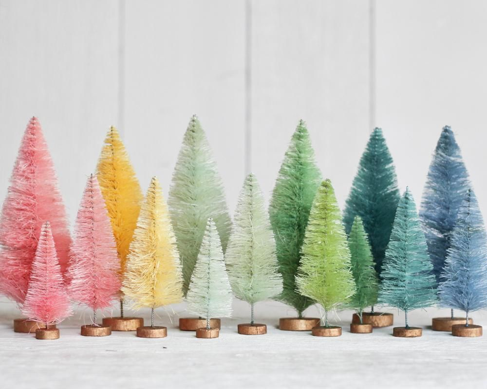 Bottle Brush Christmas Trees Rainbow Christmas Tree Bottle Brush Christmas Trees Rainbows Christmas