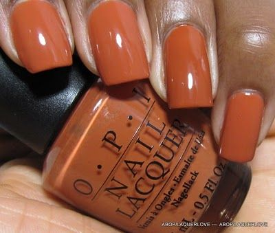 Fall color nails  Beauty  Nails  Orange nail polish