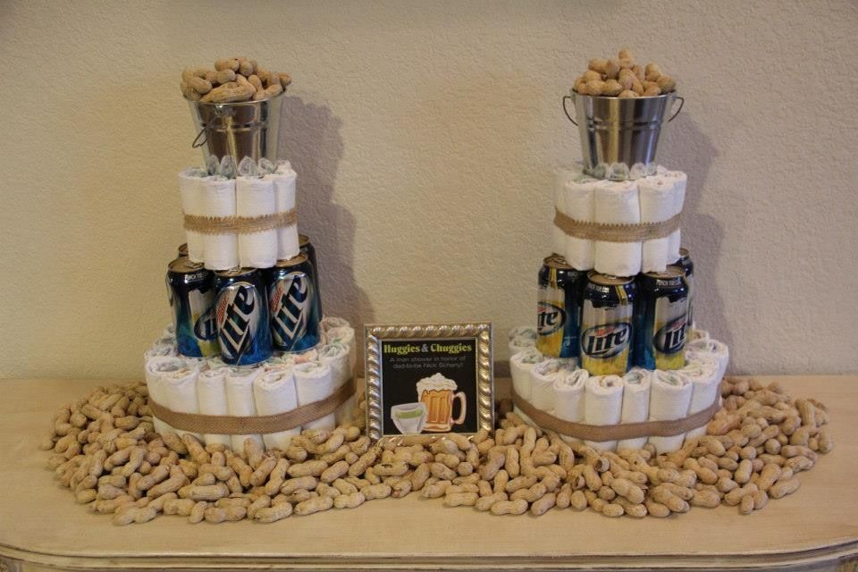 Diaper Cake For A Man Shower Beer Baby Shower Baby Shower For