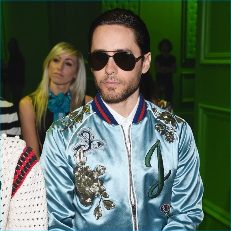 e1c1d14dee Jared Leto attends Gucci s spring-summer 2017 men s show