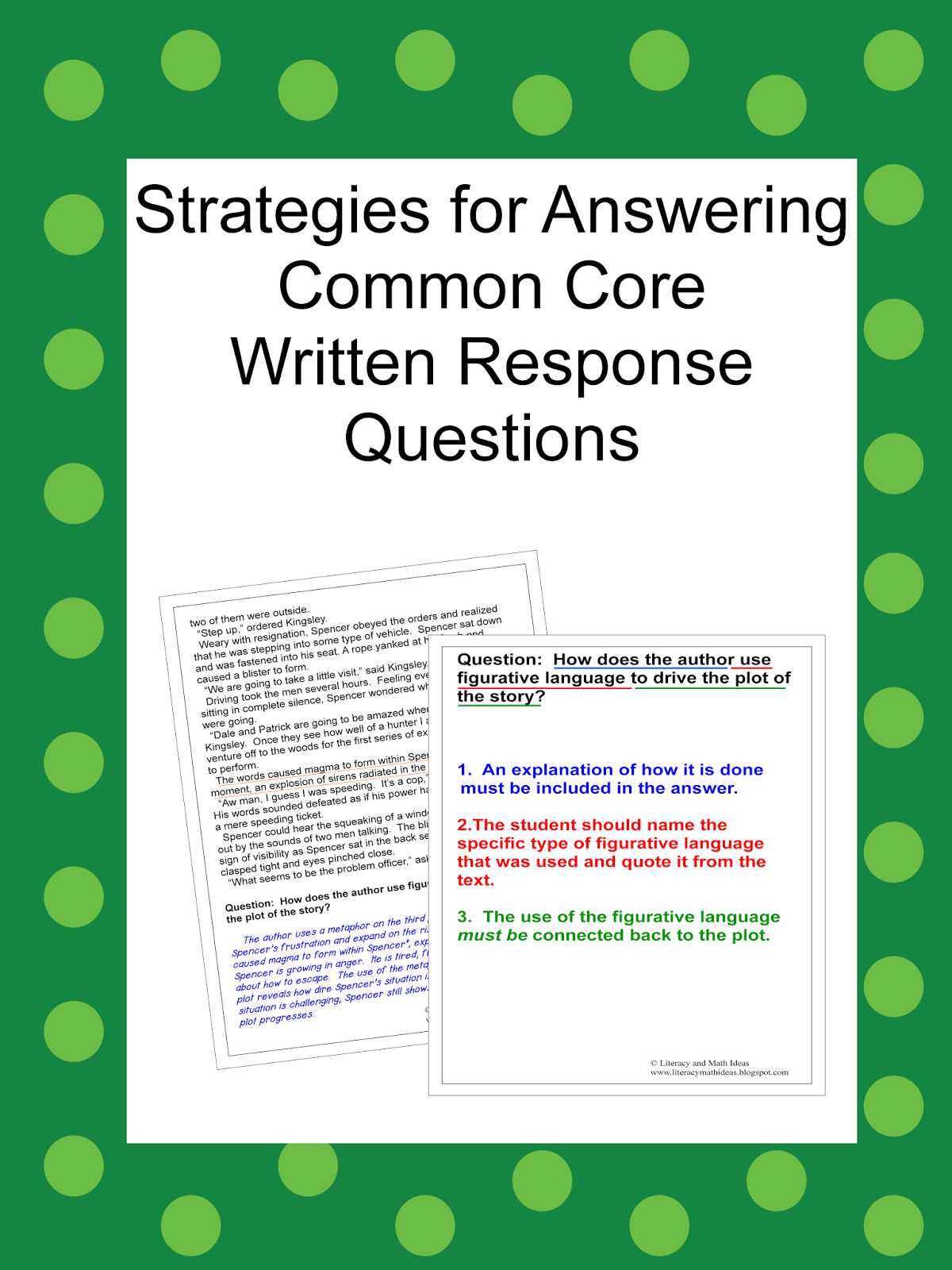 Literacy Amp Math Ideas Strategies For Answering Common