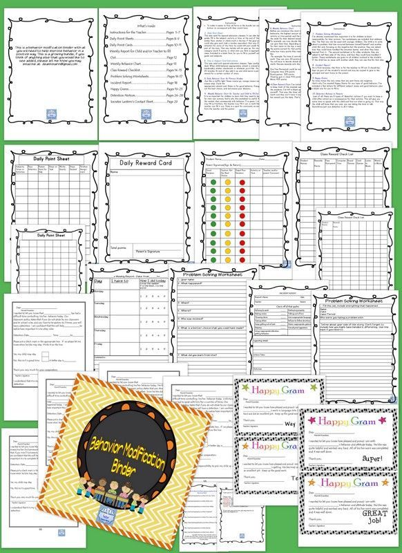 This is a behavior modification binder with all you will need to help improve behavior in a positive way. This is a growing bundle, if you think of anything else that you would like to see added, please let me know you may email me at  mailto:deann.marin@gmail.com https://www.teacherspayteachers.com/Product/No-Prep-Behavior-Modification-Binder-Special-Ed-Grades-K-8-1886532