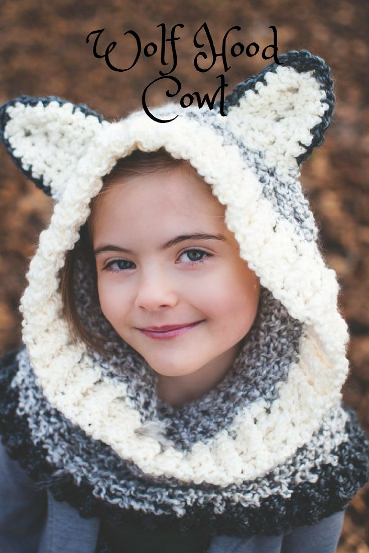 Adorable Wolf Hood Crocheted Cowl! #crochet, #style, #affiliate ...