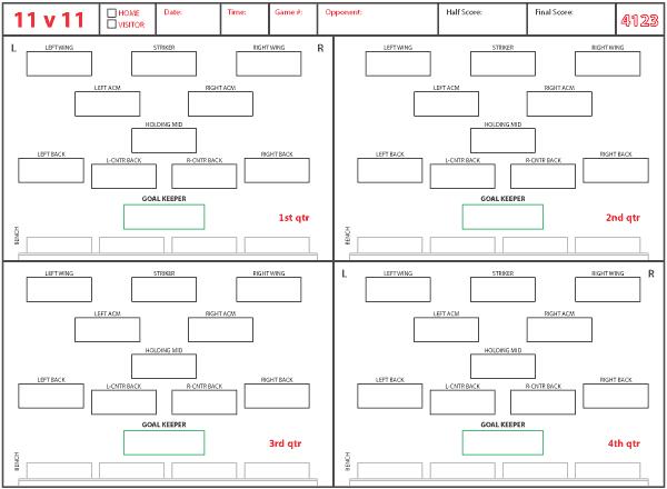 Image Result For Stats Sheet Soccer
