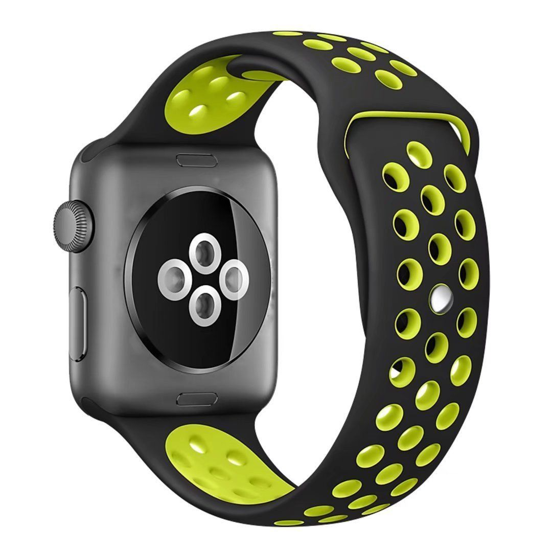 Silicone Nike Sport Band For Apple Watch Series 1 2 Size 38mm Apple Watch Nike Apple Watch Bands Sports Apple Watch