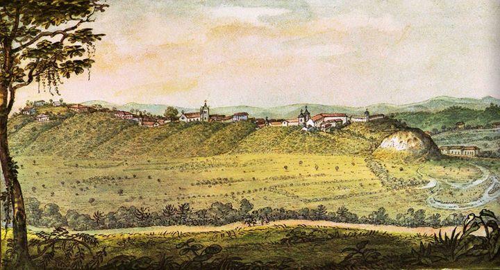Vista Geral Da Cidade De Sao Paulo Debret 1827 O Brasil