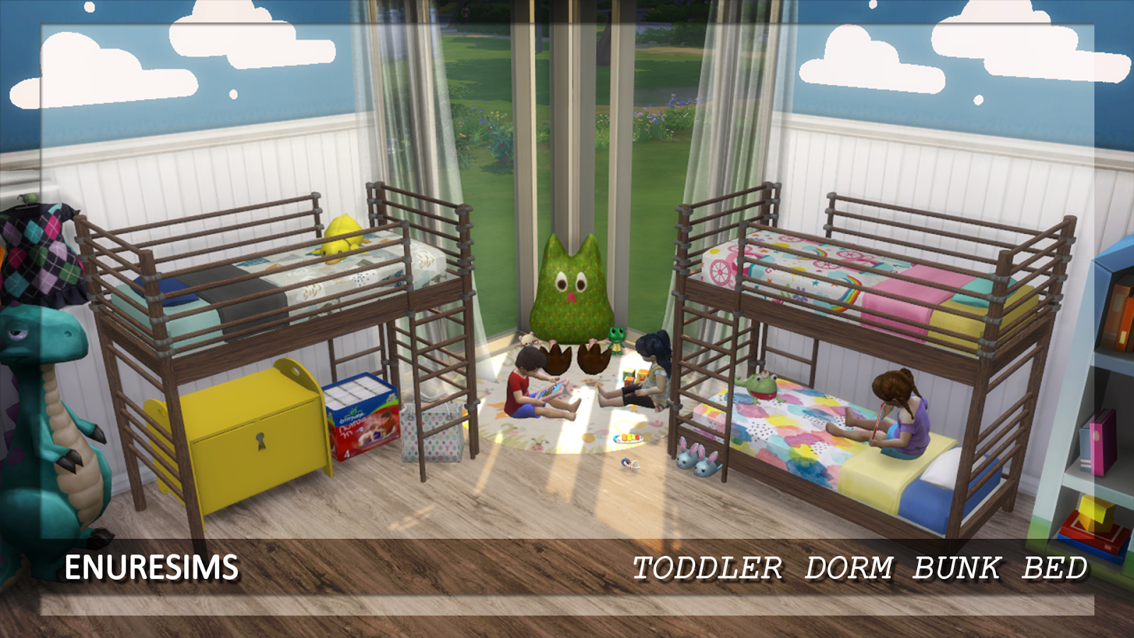 ts3 to ts4 Dorm Bunk Bed for Toddlers (two versions