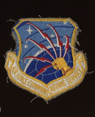 Air Force Communications Service Patch Afcs 1960's USAF