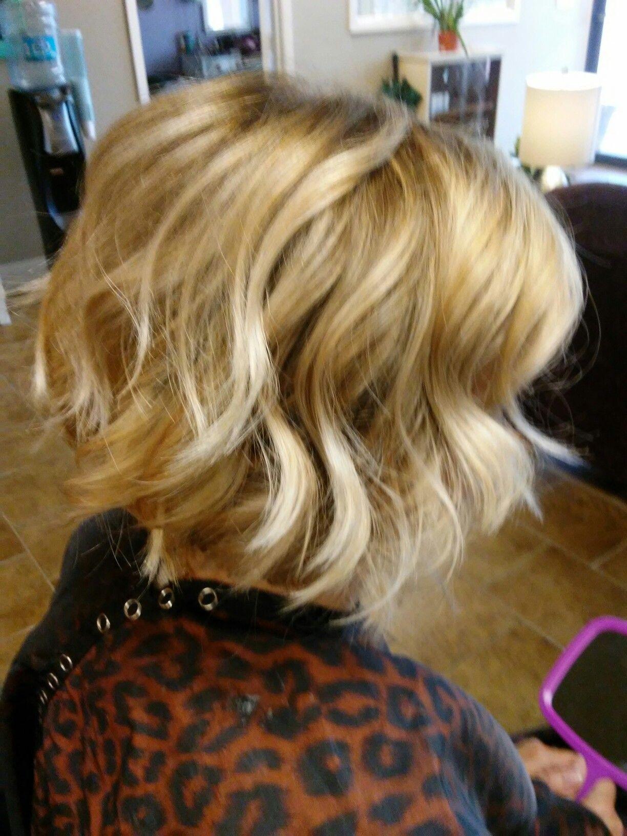 Soft blonde ombre Bob by Jessica at Selah Salon Waco