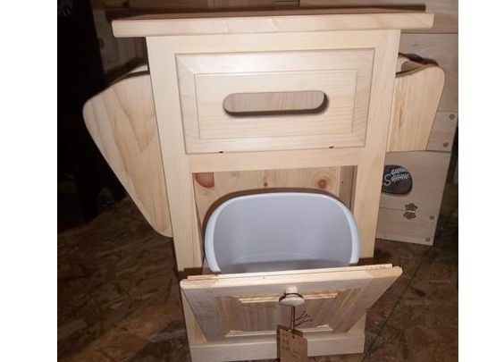 Small Bathroom Table With Trash Can Toilet Paper Holder And Small Book Holder