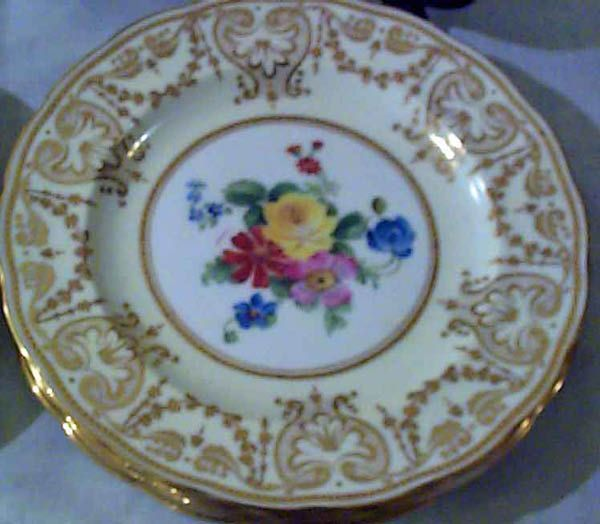 Elegant Findings Antiques Has A Large Selection Of Antique English China like Coalport Cauldon George Jones Spode Copeland and Shelley & Close up of George Jones Tiffany plate | Old Chocolate molds ...