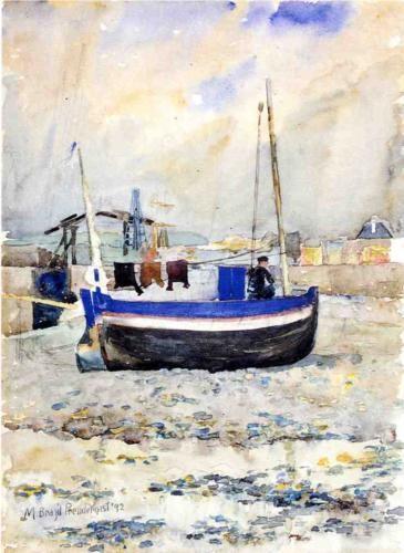 Low Tide, Afternoon, Treport - Maurice Prendergast